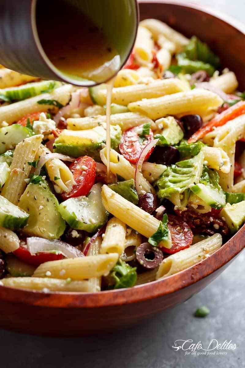 Lemon Herb Mediterranean Pasta Salad Easy And Healthy Recipes