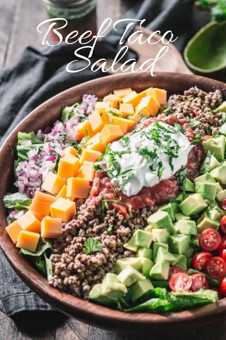 Keto Beef taco salad-easy