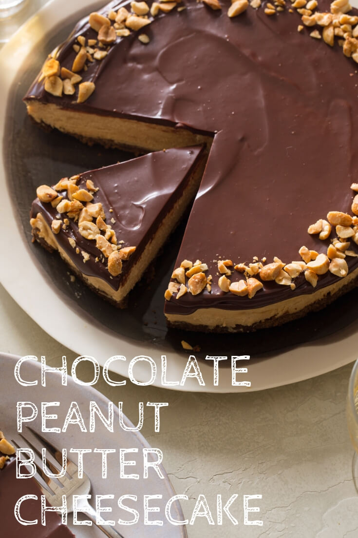 Keto Chocolate Peanut Butter Cheesecake-easy