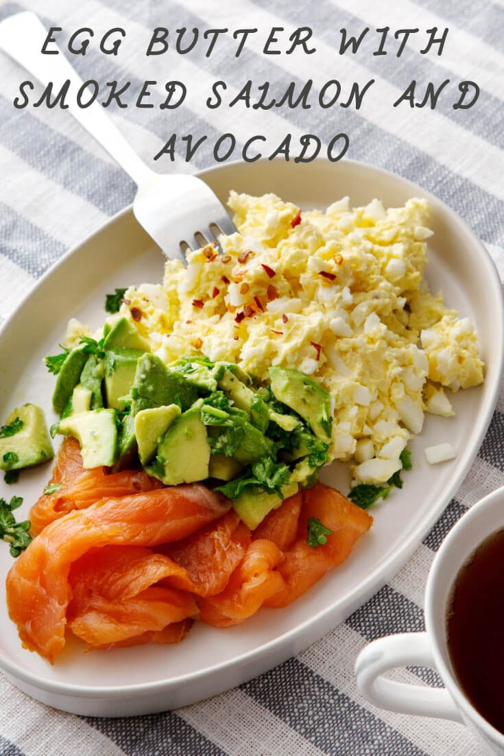 Keto Egg Butter With Smoked Salmon And Avocado