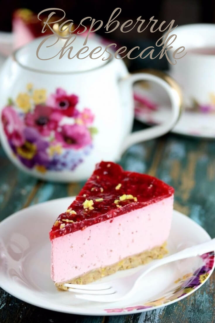 Keto Raspberry Cheesecake-easy