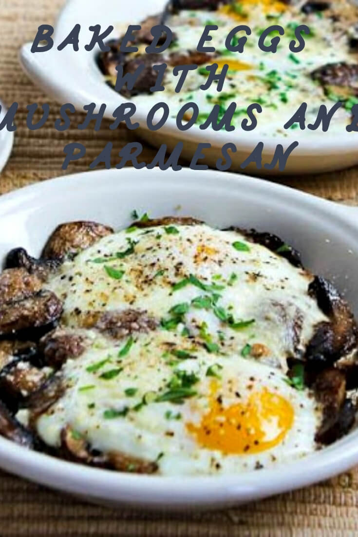 keto Baked Eggs With Mushrooms and Parmesan