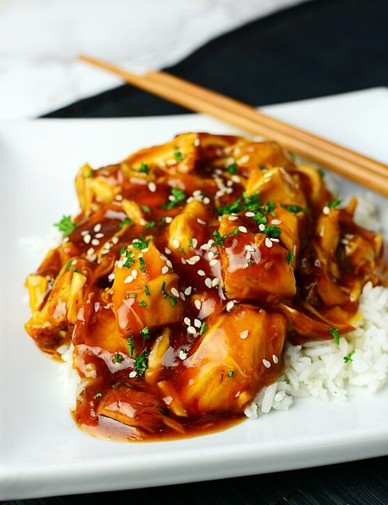 1. Chinese-Style Instant Pot Honey Garlic Chicken