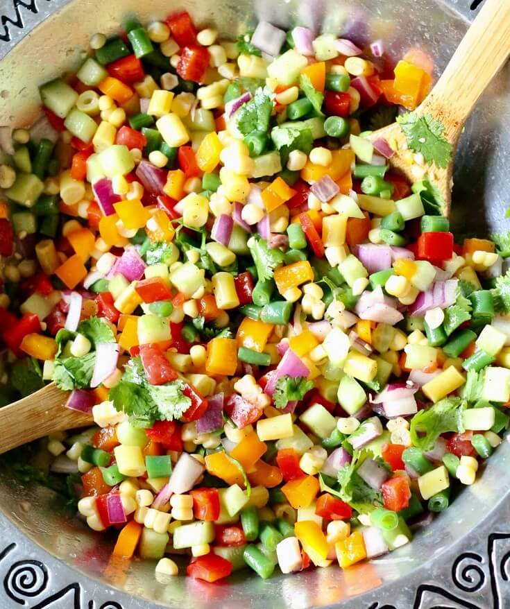 1. Chopped Vegetable Salad