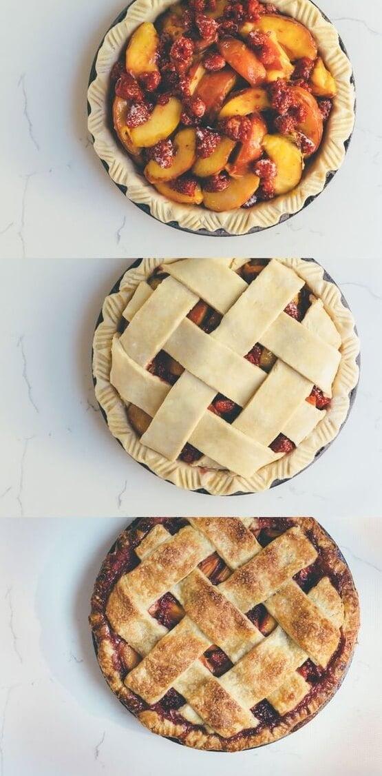 1. Peach Raspberry Pie
