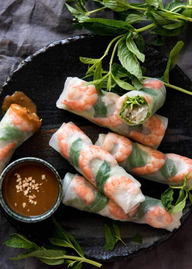 1.Vietnamese Rice Paper Rolls