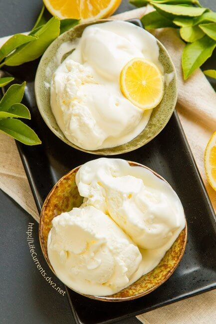 10.Lemon Ice Cream