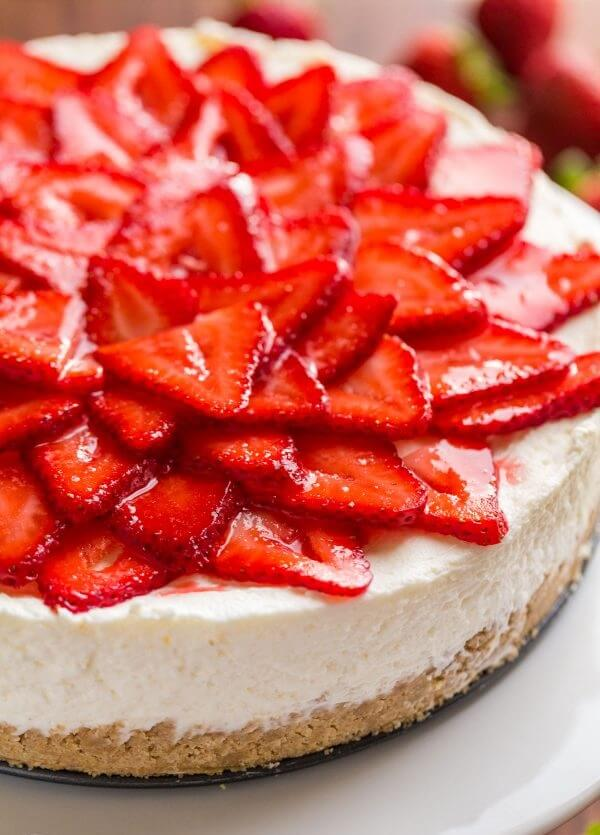 10. No-Bake Strawberry Cheesecake