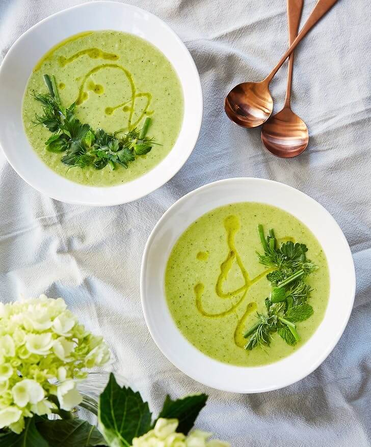 10. Spring Pea Soup With Mint