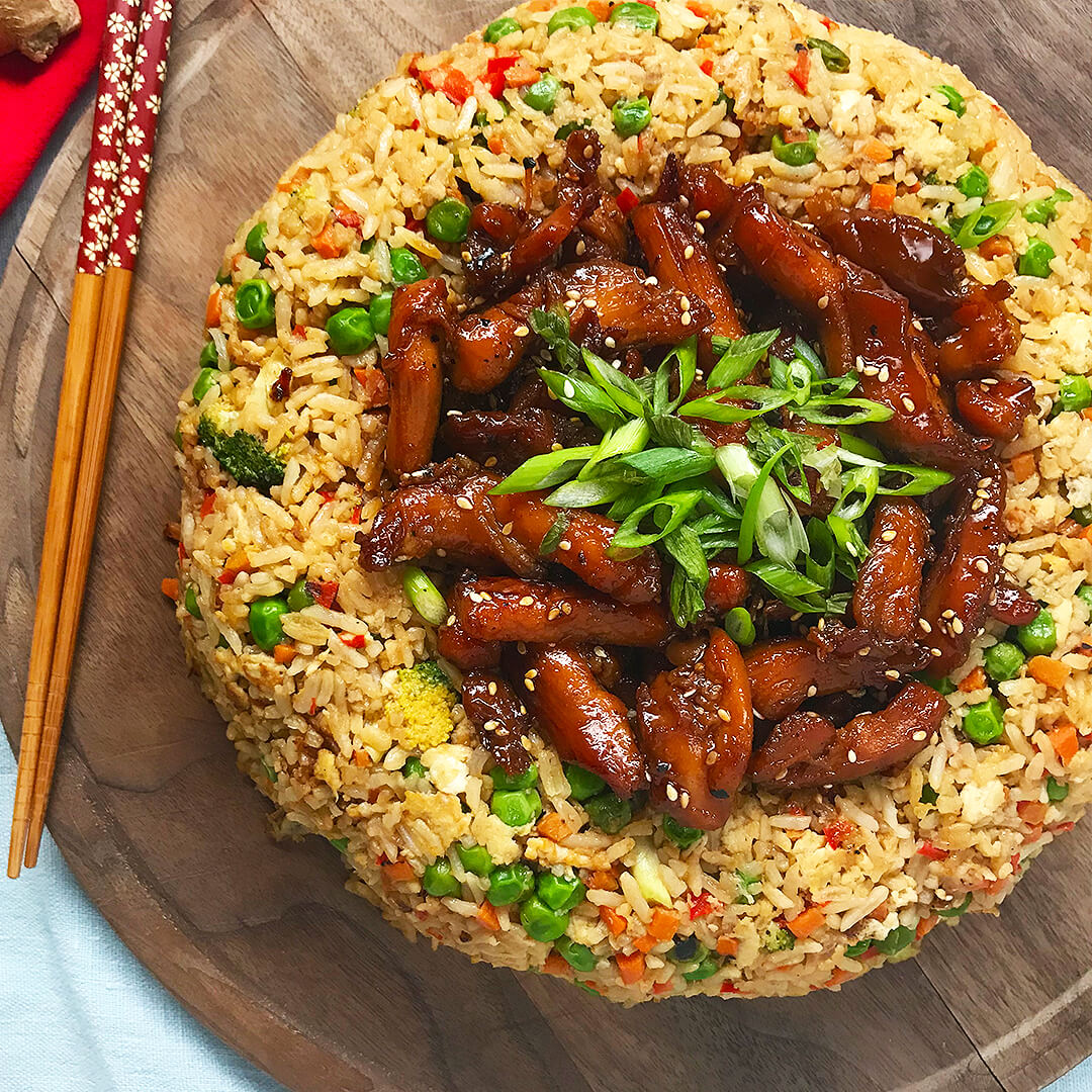 10. Teriyaki Fried Rice
