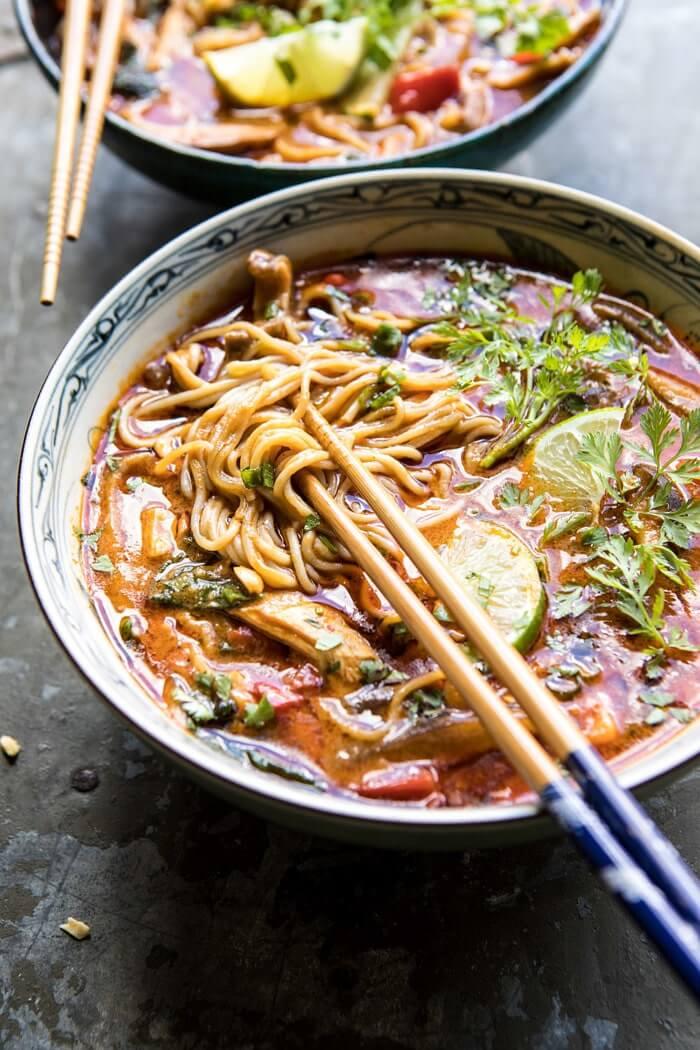 10. Thai Peanut Chicken Lamen