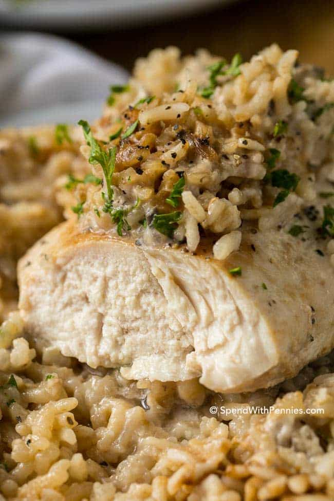 11. 4-Ingredient Chicken and Rice Casserole