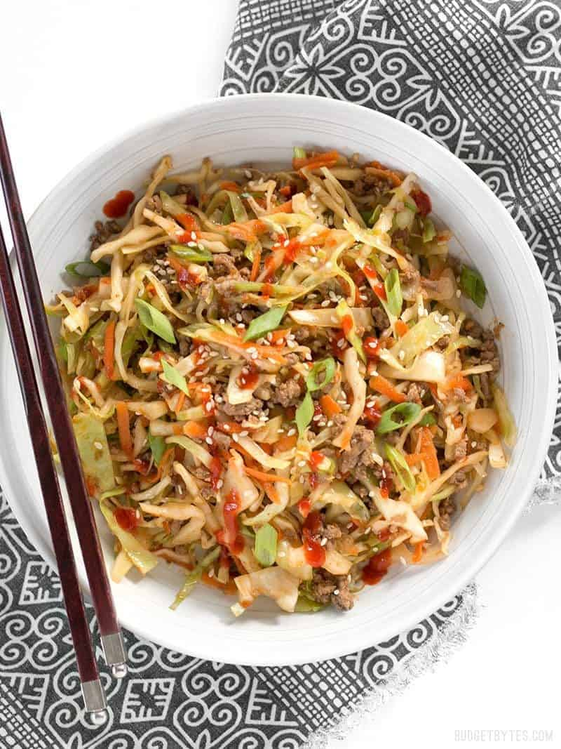 11. Beef and Cabbage Stir Fry