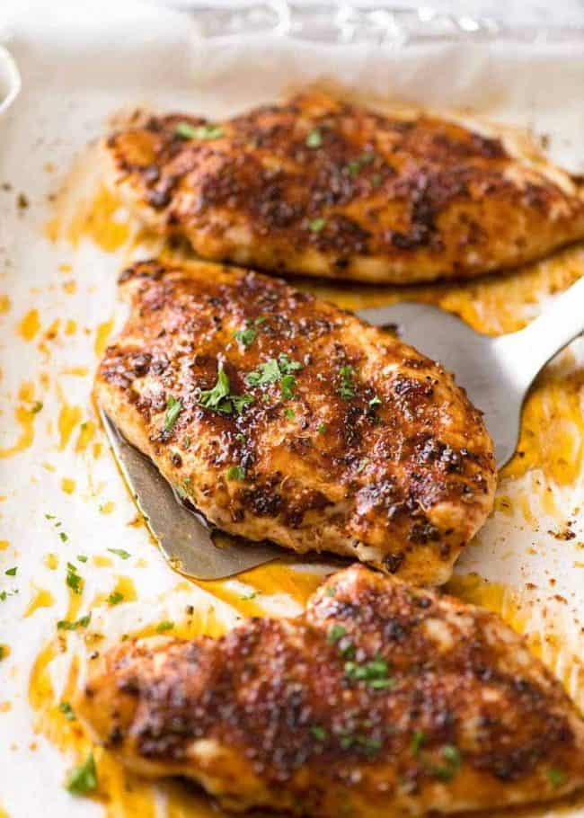 11. Oven Baked Chicken Breast with Oregano