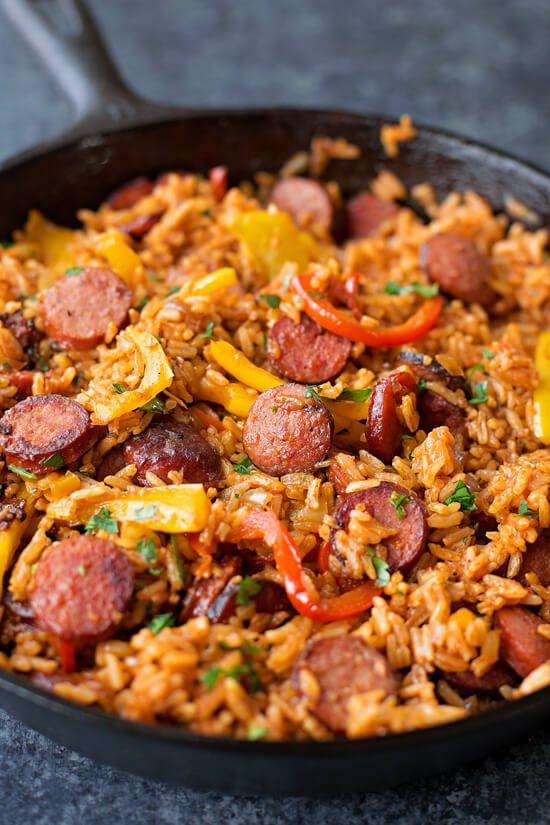 11. Sausage, Pepper and Rice Skillet
