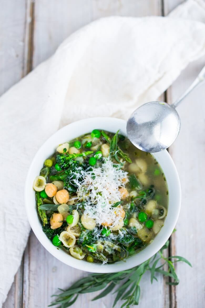 11. Spring Minestrone with Chickpeas