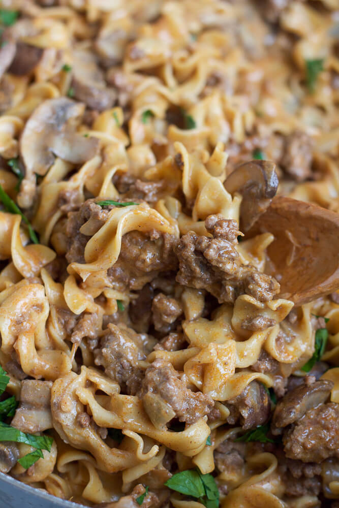 12. One Pot Beef Stroganoff