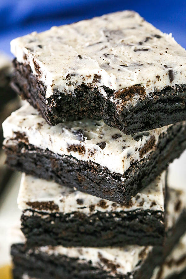 12. Oreo Cream Brownies