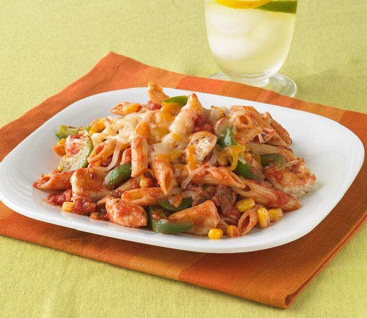 13.Cheesy Chicken & Salsa Skillet