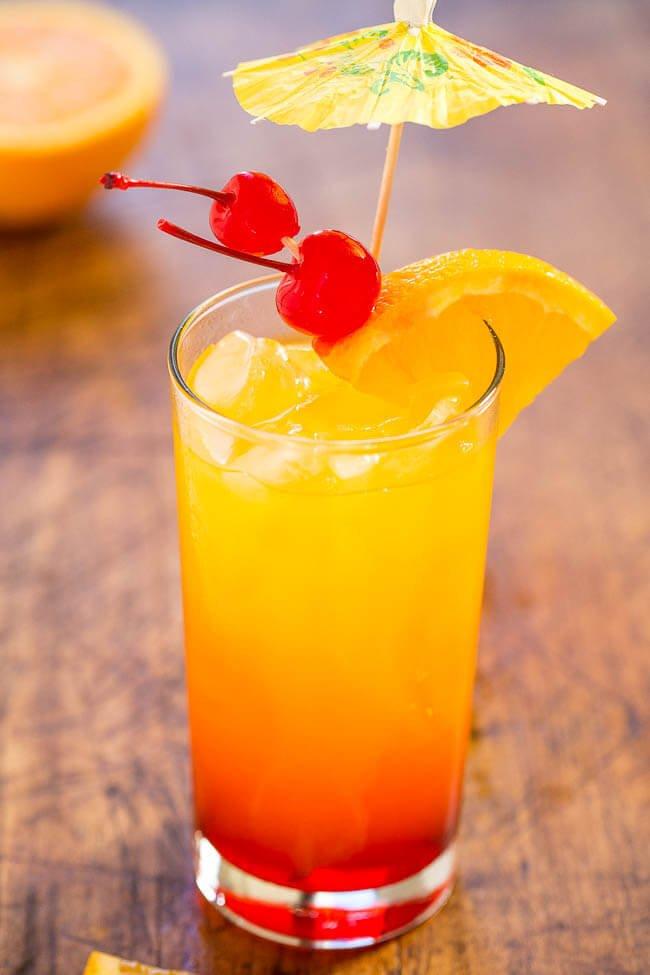 13. Mango Tequila Sunrise Cocktail