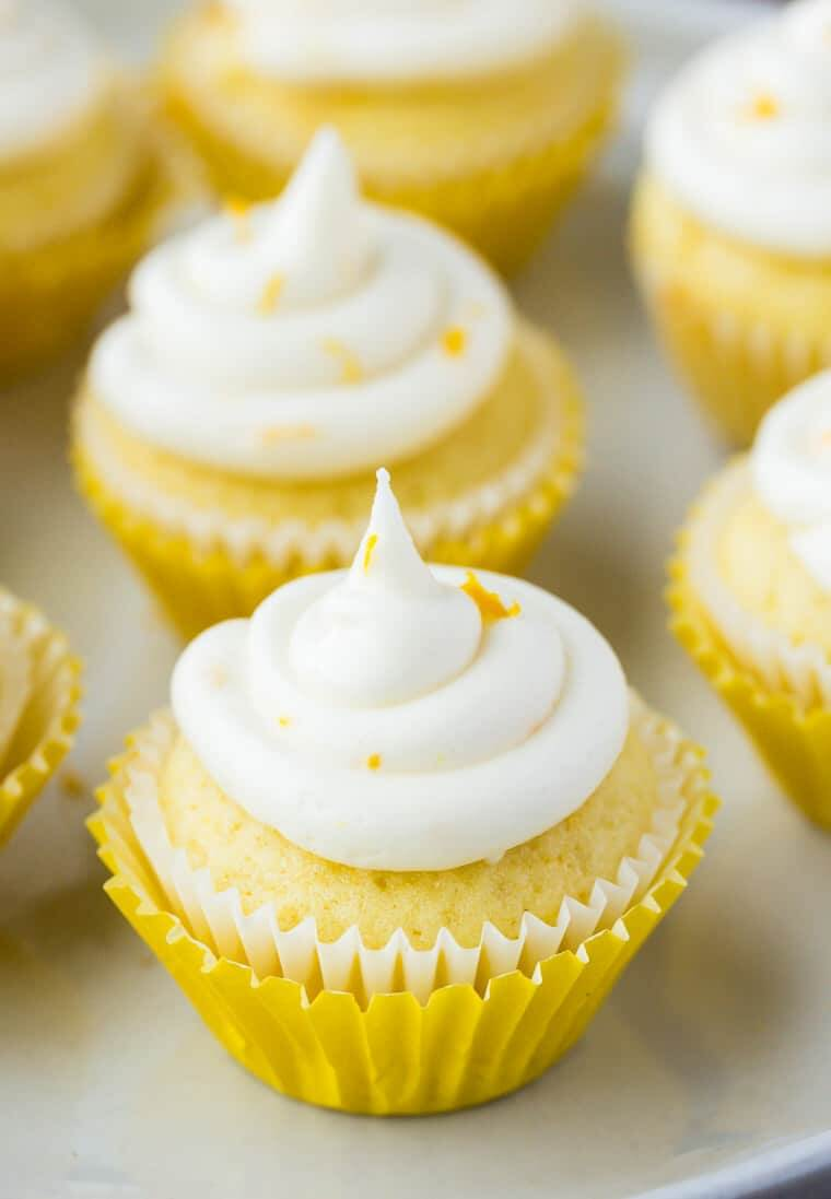 13.Mini Lemon Cupcakes with Lemon Buttercream Icing