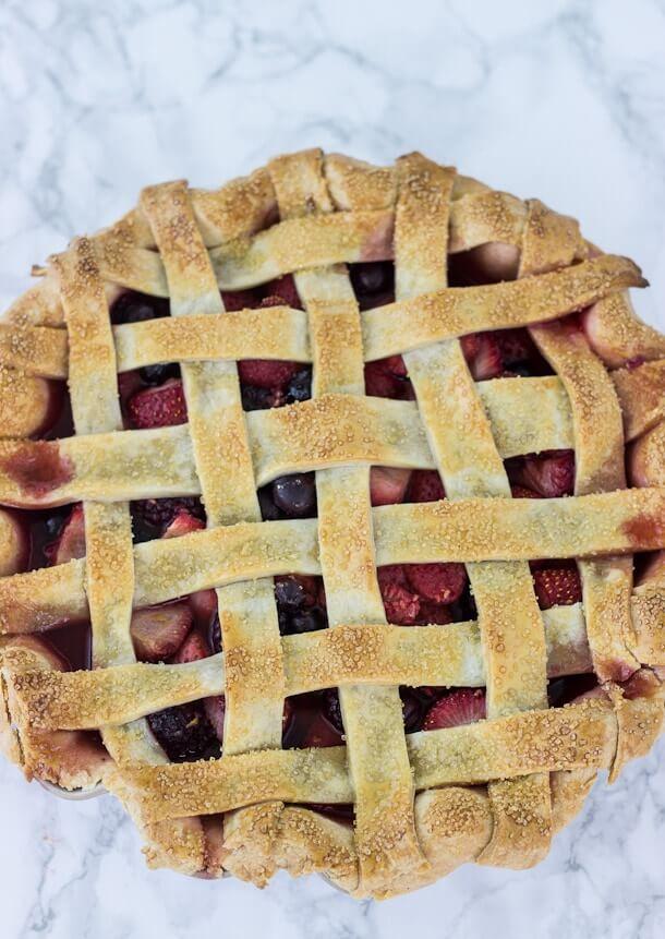 13. Mixed Berry Pie