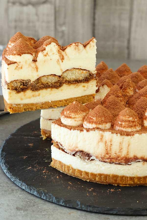 13. No bake Tiramisu Cheesecake