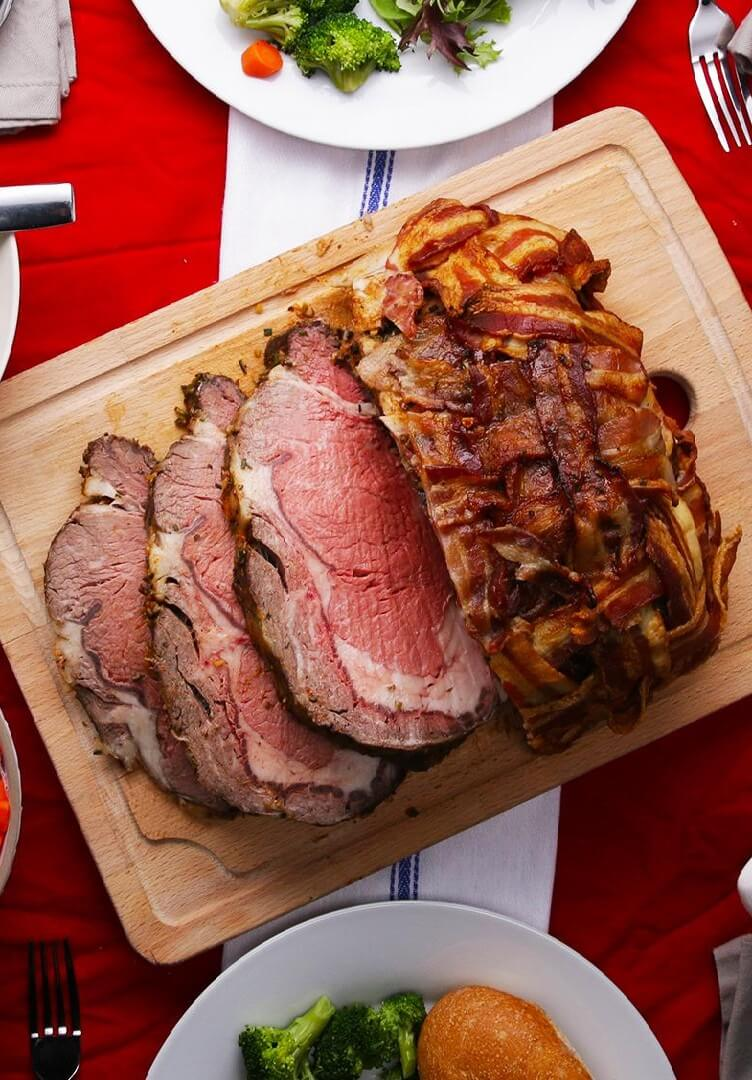 13.Prime Rib With Garlic Herb Butter