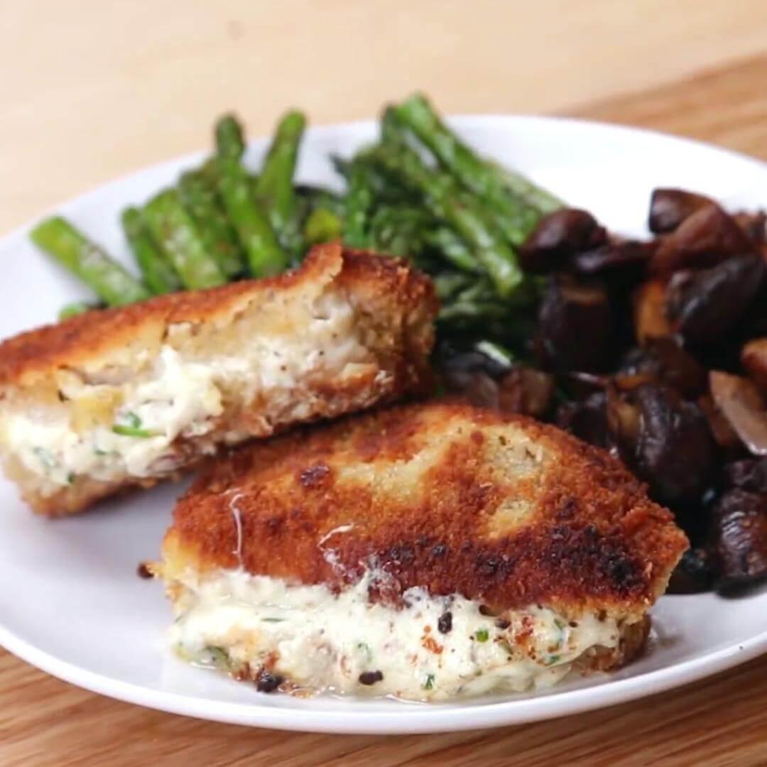 14. Garlic Herb Stuffed Pork Chops
