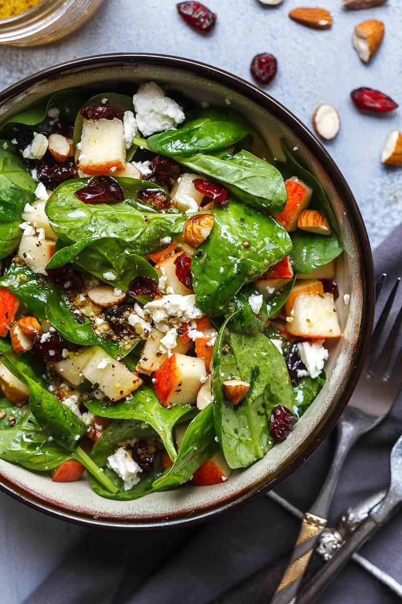 15. Apple Almond Feta Spinach Salad rv