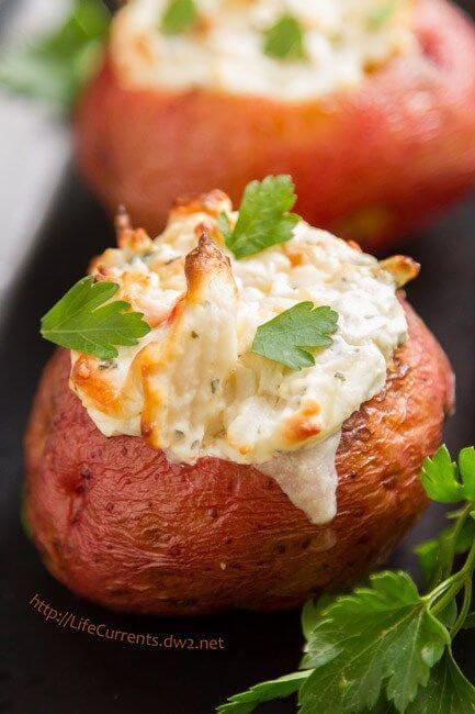 15. Crab Stuffed Baked Potato