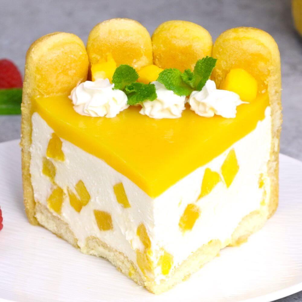 15.No Bake Mango Cheesecake Pie