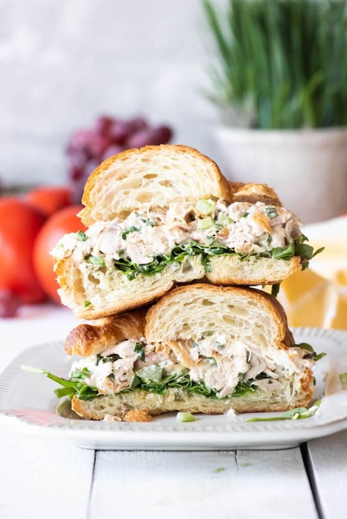 15.Rotisserie Chicken Salad with Greek Yogurt