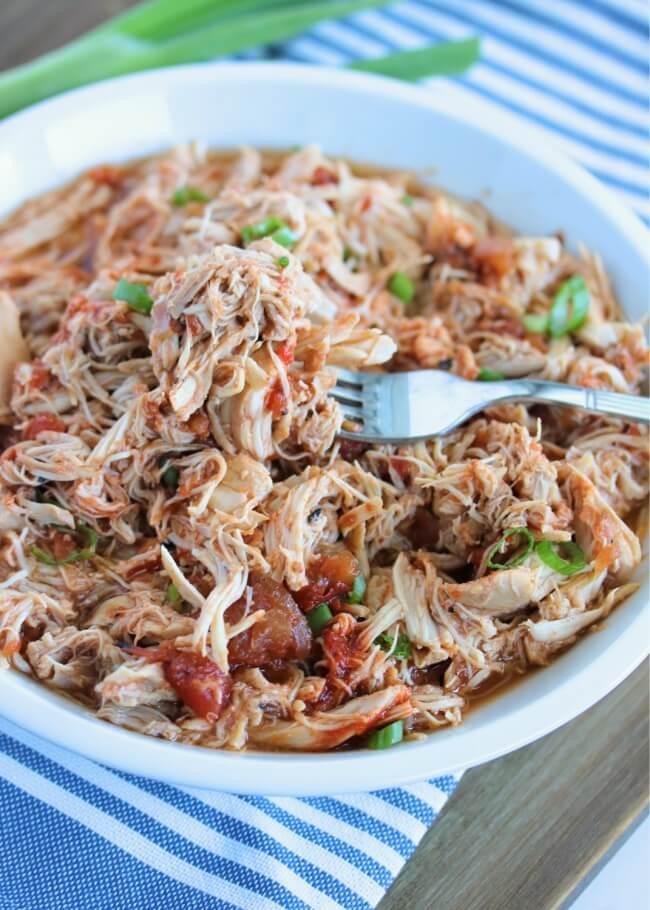 15. Shredded Salsa Chicken