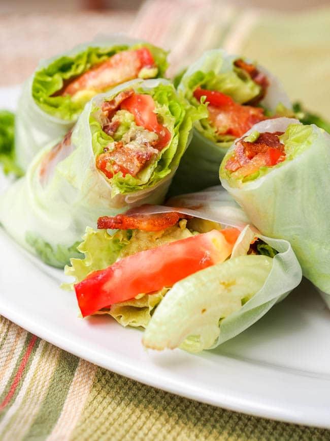 16.BLT Lettuce Wrap Summer Rolls