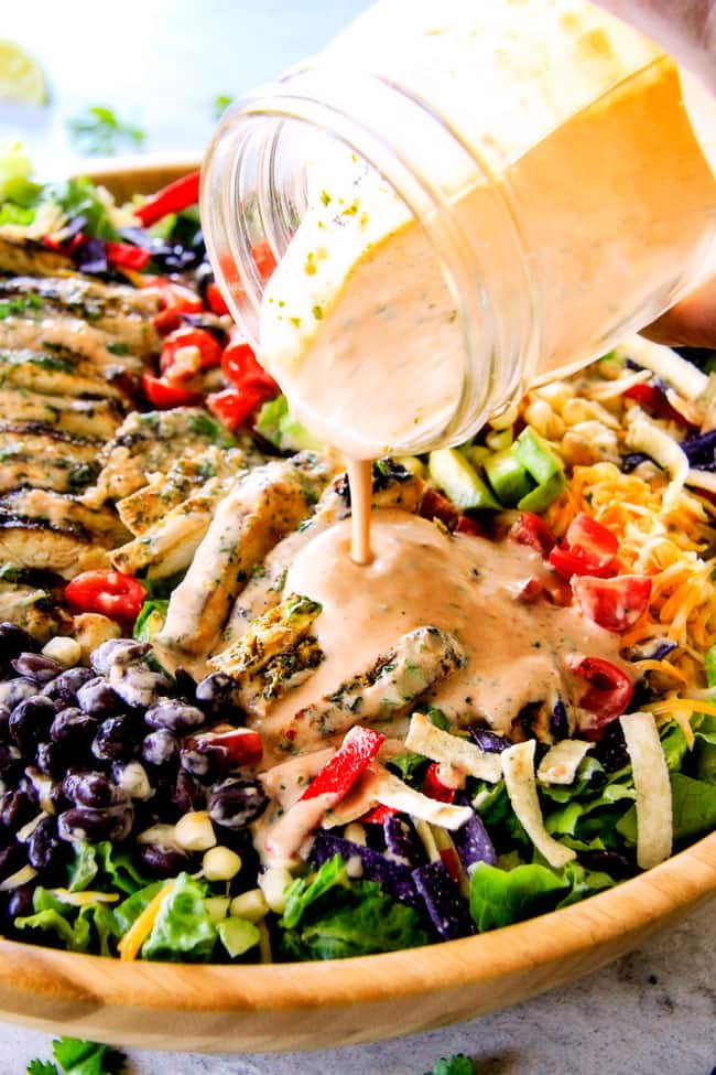 16. Cilantro Lime Chicken Taco Salad
