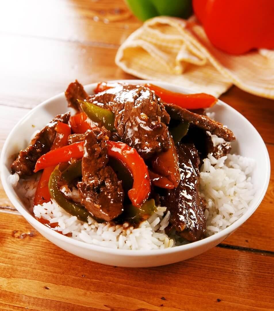 16. Easy Skillet Pepper Steak