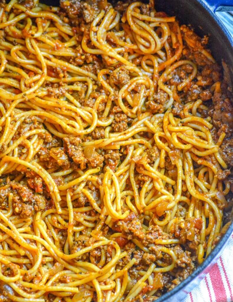 16. One Pot Spaghetti With Ground Beef