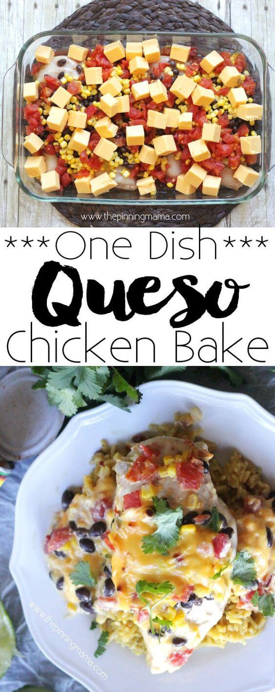16. Queso Chicken Bake