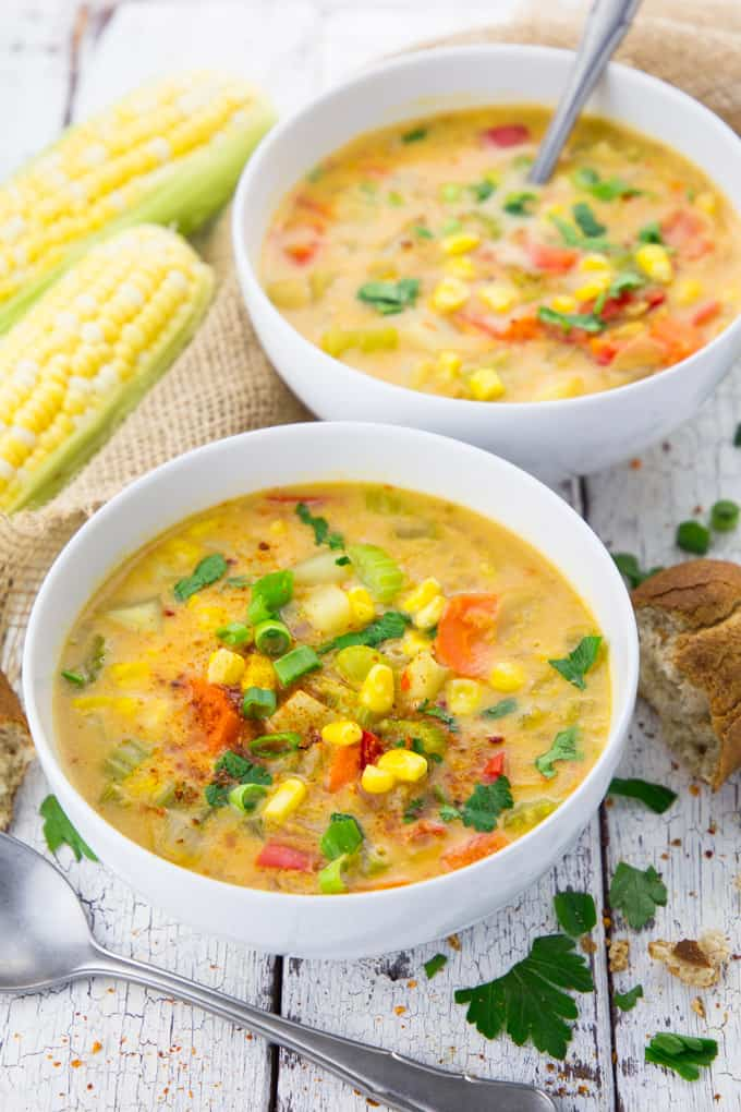 16. Vegan Corn Chowder with Potatoes