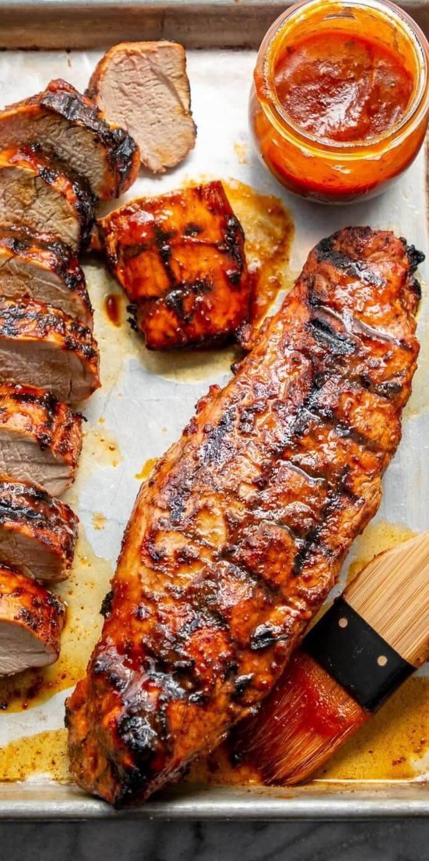 17. Grilled BBQ Pork Tenderloin