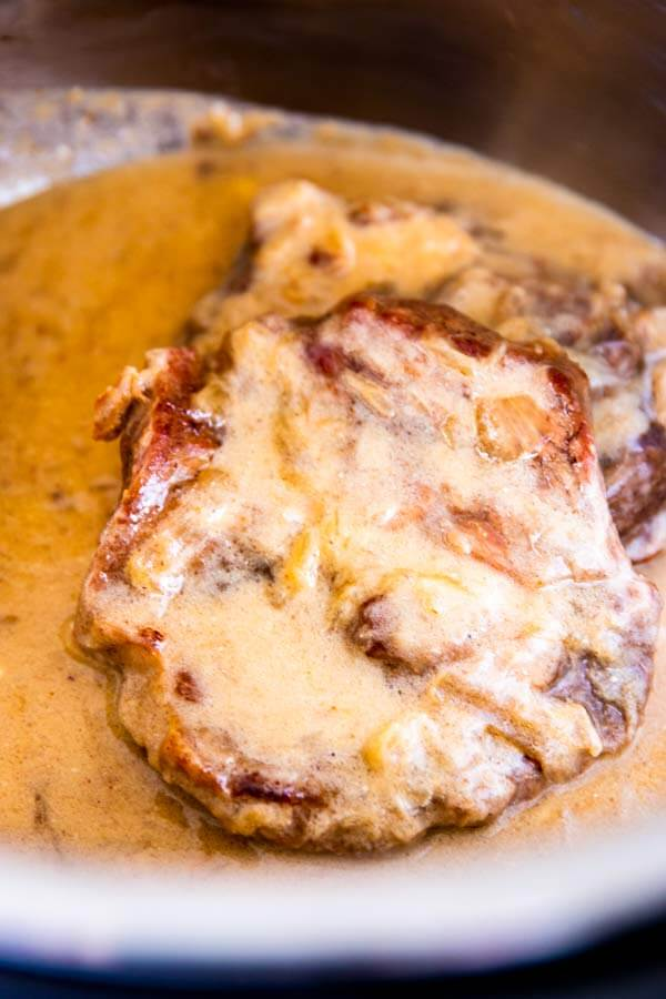 17. Instant Pot Sour Cream Pork Chops