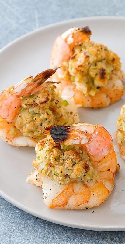 17.Oven Baked Stuffed Shrimp