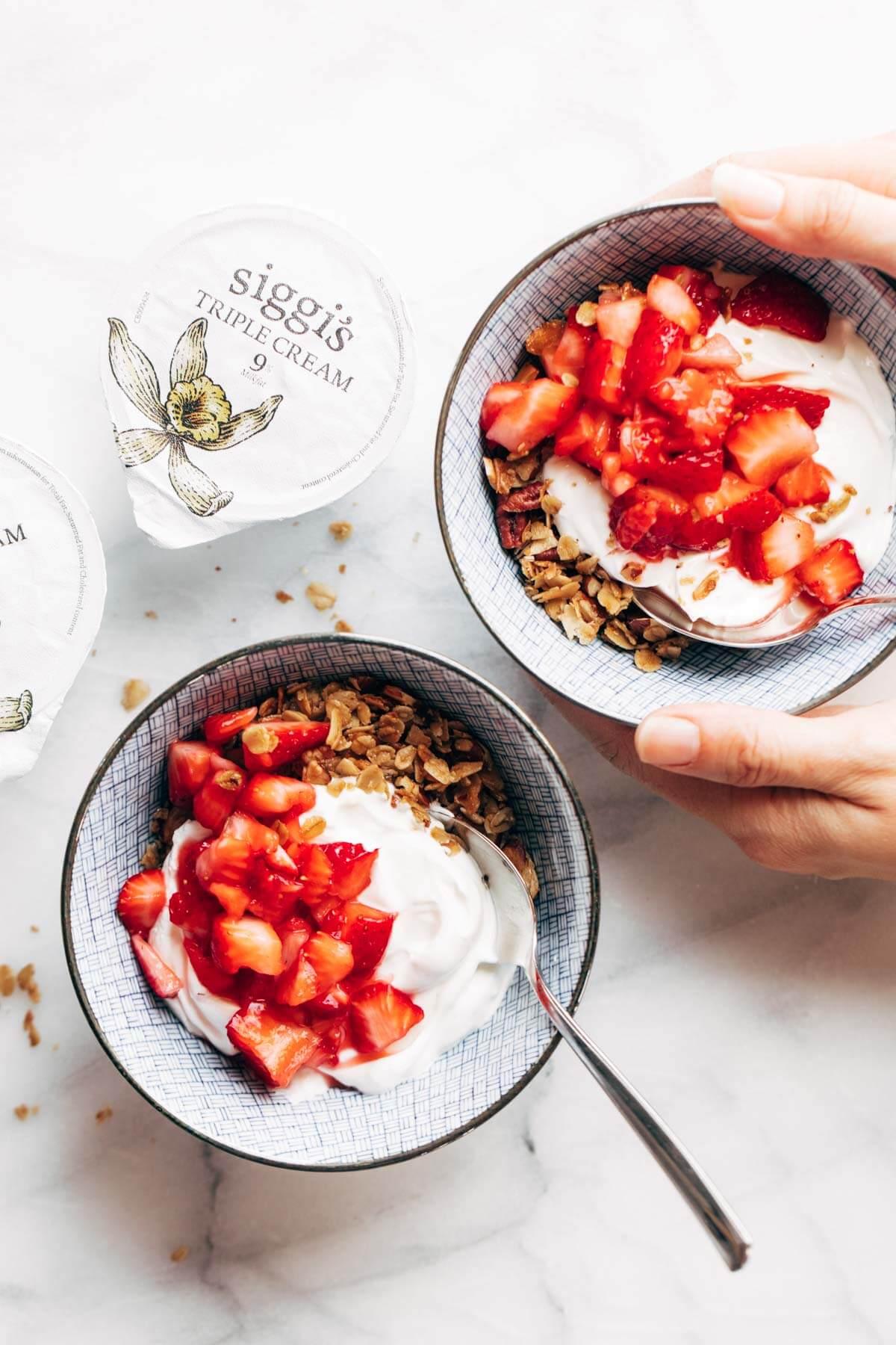17. Strawberry Shortcake Yogurt Bowl