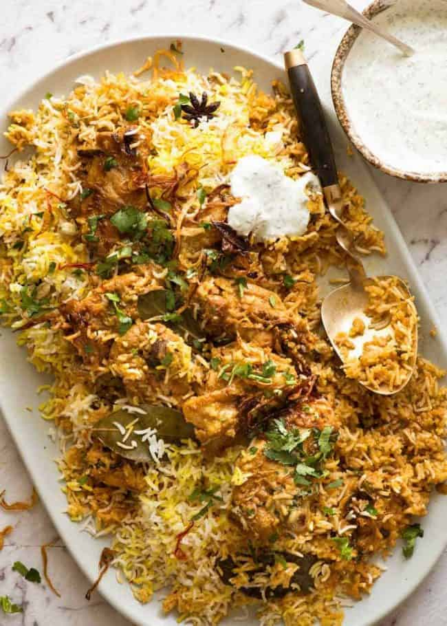 18. Chicken Biryani