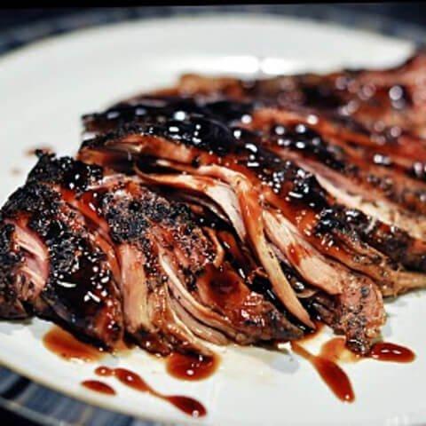 18. Crock Pot Brown Sugar Balsamic–Glazed Pork Tenderloin
