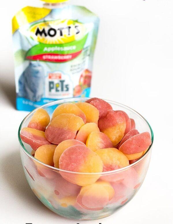 18. Frozen Applesauce Snack Bites