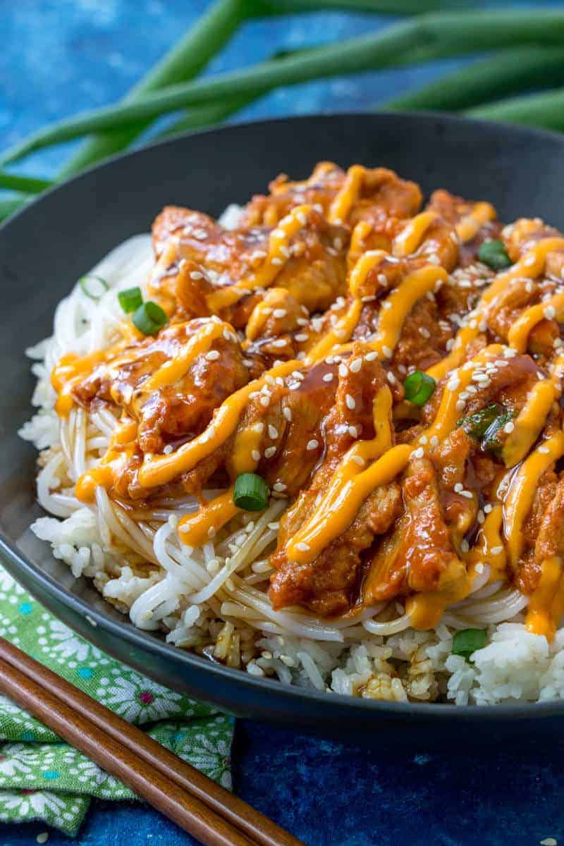18.Korean Spicy Pork Bulgogi Bowl