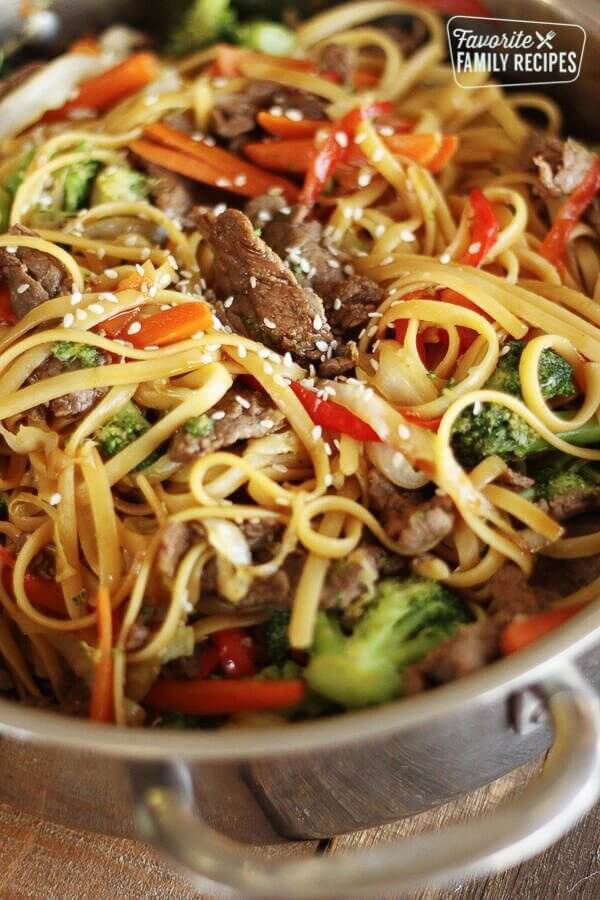18.Quick & Easy Beef Noodle Stir Fry