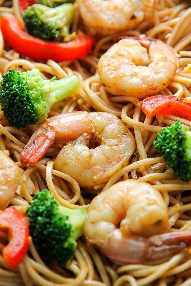 18.Shrimp and Broccoli Lo Mein